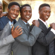 5 Ugandan brothers (left to right above): Idine Membere, Edwin Bwambale, Godwin Tusime, Harrison Thembo, and Cleave Masereka