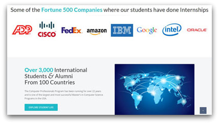 ComPro students do paid internships in U.S. companies
