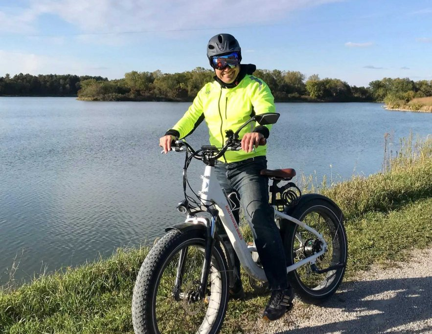Payman Biking Iowa trails